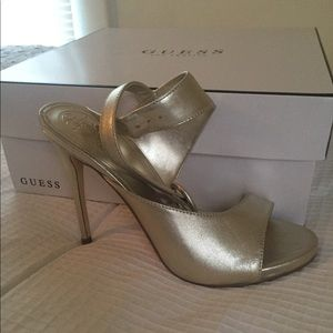 Guess Tyson2 Ankle Strap Heeled Sandals